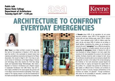 April 2016 /// ASA presenting at Keene State College, NH