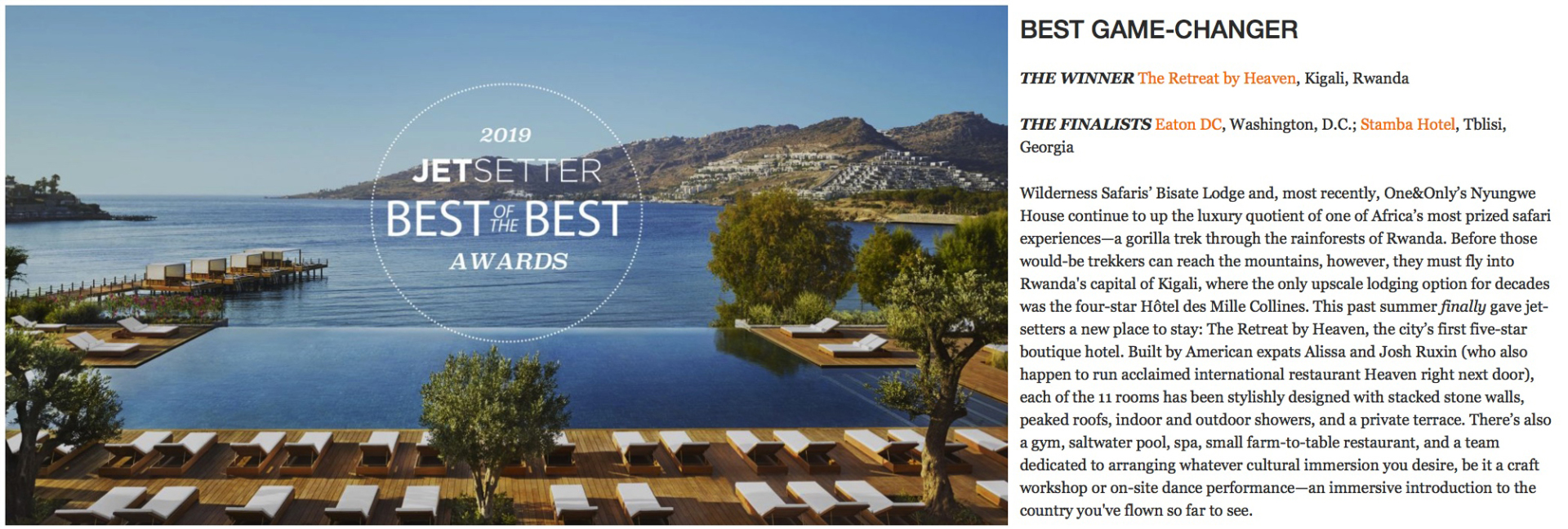 2019 Best of the Best Hotel Awards