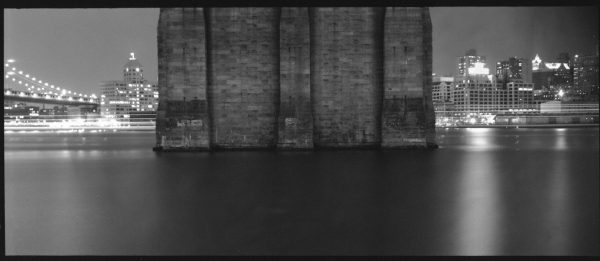 Brooklyn Bridge Night Pan