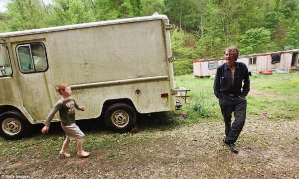 Child playing in rural Appalachian region