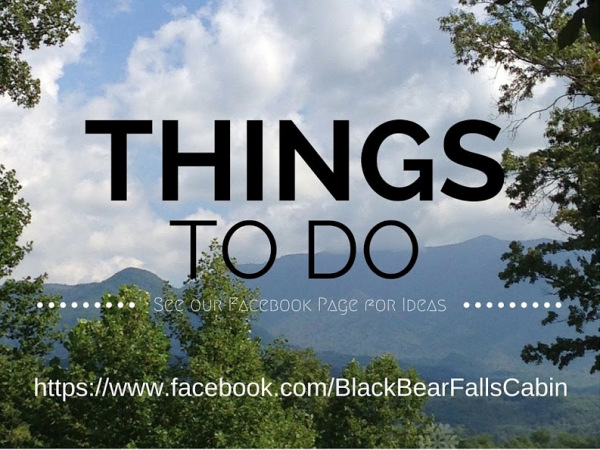 Black Bear Falls Cabin - Find Things To Do