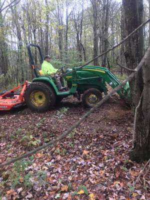 brushhogging and trail clearing
