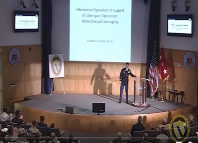 Colonel Cicalese Presents at Cyber Talks