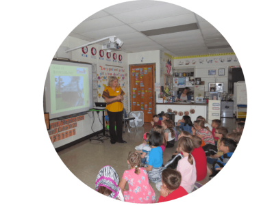 Carrie teaching a class