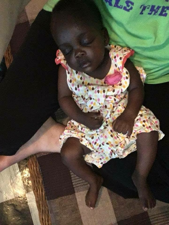 baby sleeping Kenya