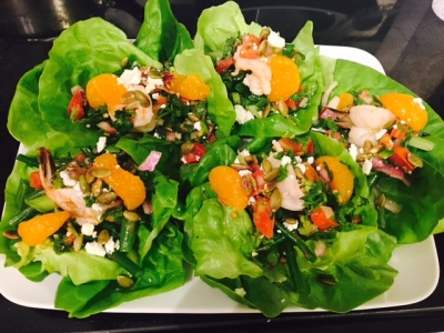 Shrimps & Citrus Salad in Butter Lettuce cup
