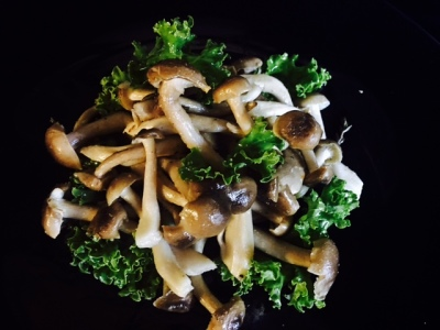 Roasted Brown Beech Mushrooms Salad with PK spiked Red wine Vinaigrette