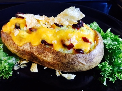 My Cranberry-Bacon-Cheese Twice Baked Potatoes