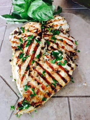 Grilled Lime & Cilantro Marinated Chicken Breast