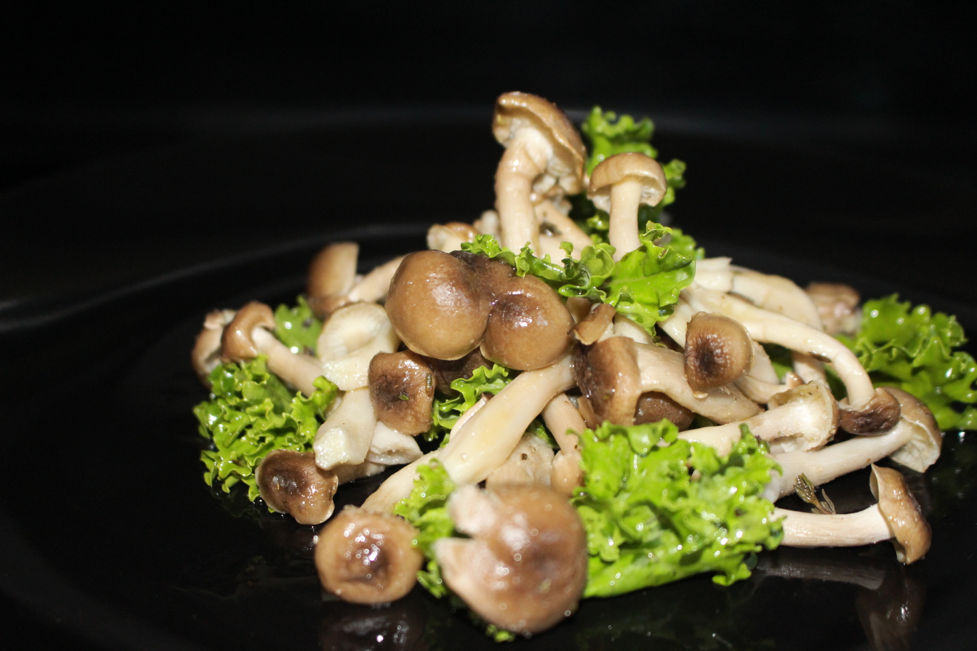PK spiked Grilled Shitake Mushrooms