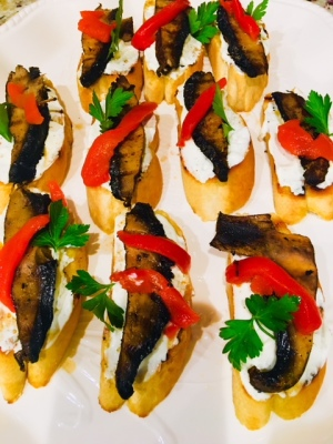 Grilled Potabelo Crostini