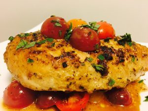 Moist Skillet Chicken Breast & Tomatoes