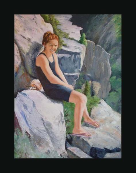 Samantha at the Black Canyon