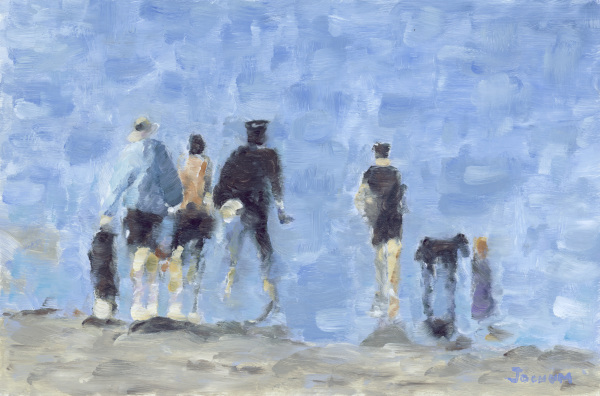 Figures on the Beach A