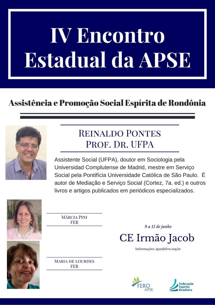FERO realiza o  IV Encontro Estadual da Assistência e Promoção Social Espírita