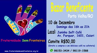 Bazar Beneficente em 10/12/2017