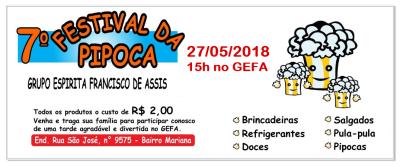 7º Festival da Pipoca no GEFA