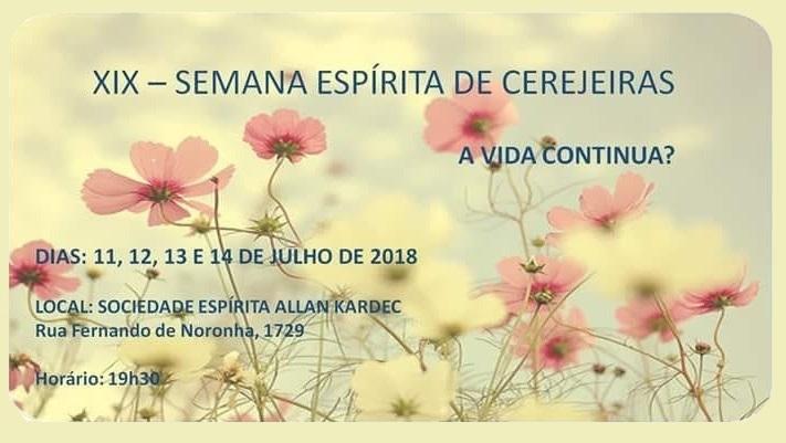 XIX SEMANA ESPÍRITA DE CEREJEIRAS