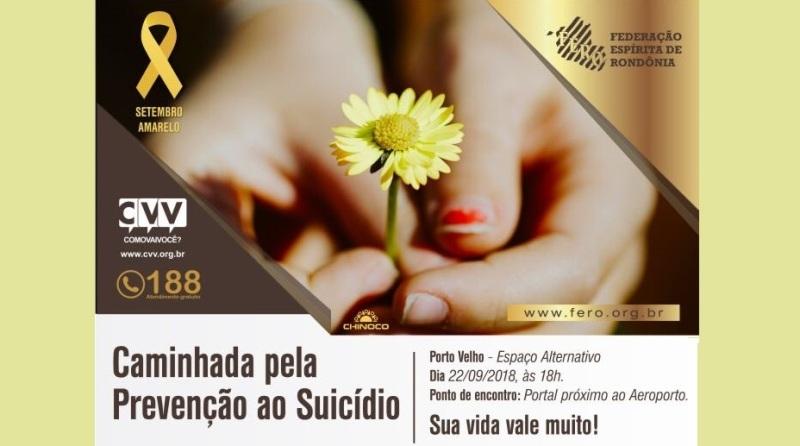 Caminhada pela valorização da vida e prevenção ao suicídio