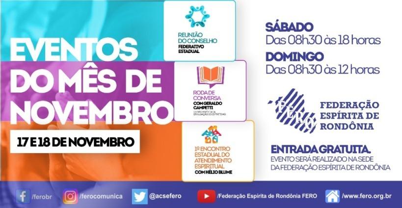 Eventos Federativos em Novembro de 2018