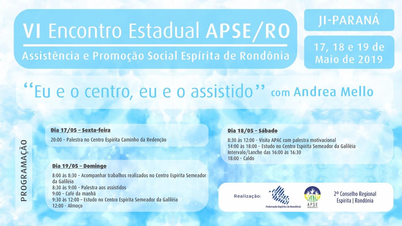 VI Encontro da APSE RO (Em Ji-Paraná)