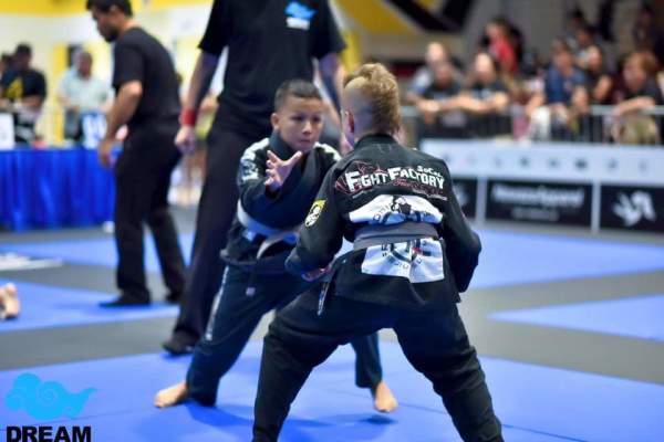 SCFF student Anthony Ornelas at BJJ competition
