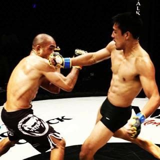 SCFF Pro MMA Fighter Saad Ul-hasan (right)