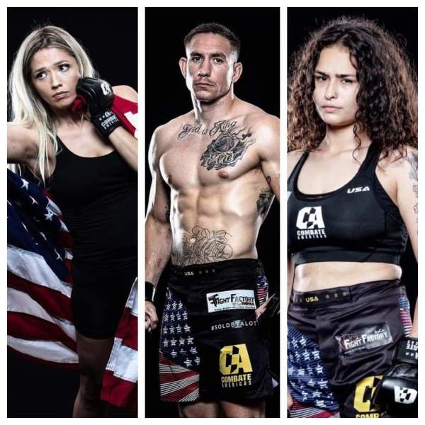 SCFF Pro Fighter Jesse Strader, and Amateur Fighters Destiny Sarran and Nancy Nava