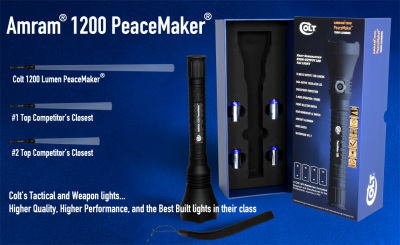 "Colt's 1200 Lumen PeaceMaker...The Only ""Peacemaker"" you can ""carry"" to Washington DC."