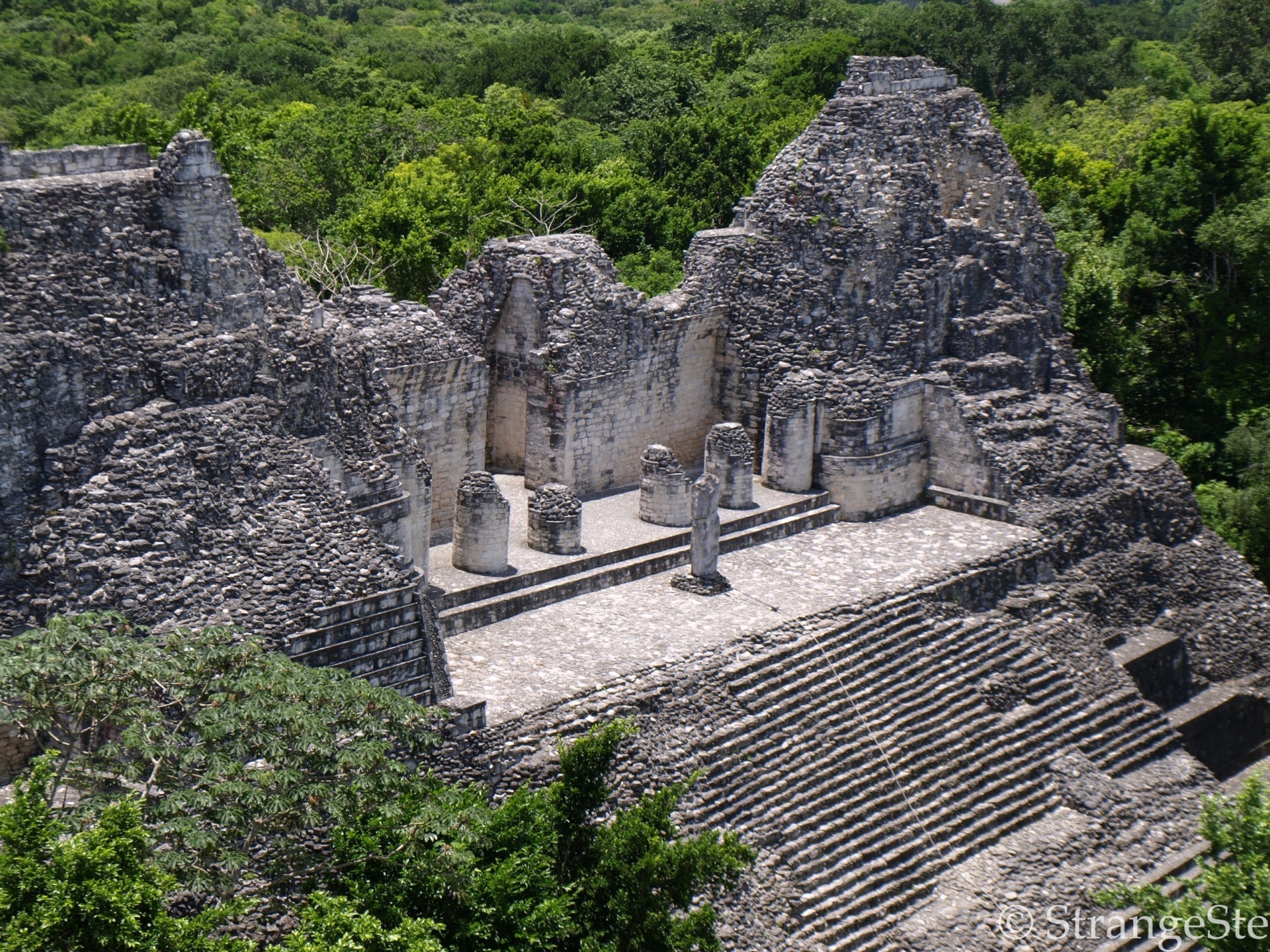 Ruins in the middle of the jungle