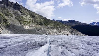 Hike on a glacier