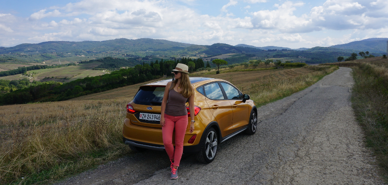 Discovering Tuscany with the new Ford Fiesta Active