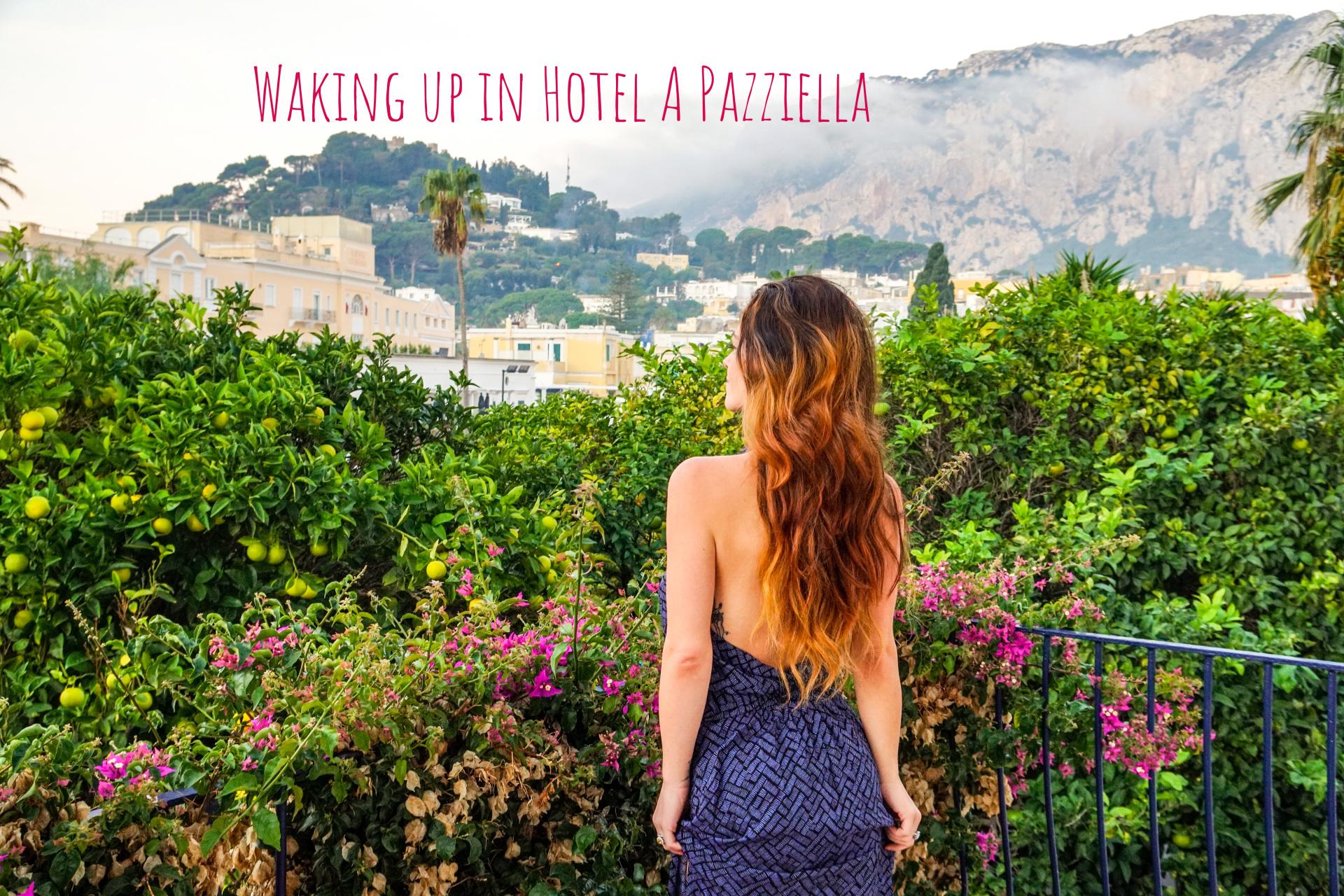 Waking up in Hotel A Pazziella, Isola Di Capri, Italia
