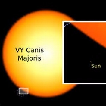 VY Canis Majoris, one of the largest stars in the Milky Way