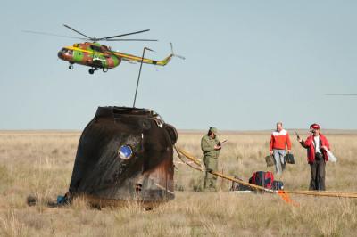 Soyuz capsule landed