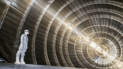 Inside the KATRIN neutrino detector