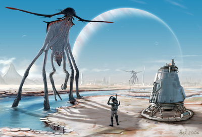 Alien image courtesy Alex Ries. https://www.alexries.com
