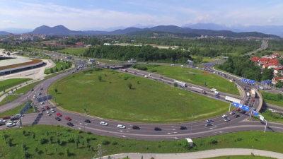 Swiss roundabout