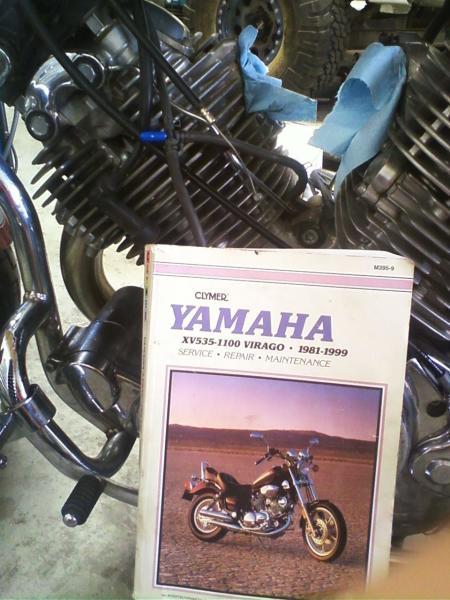 The trusty Clymer manual