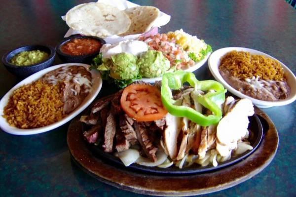 Beef and Chicken Fajitas for Two