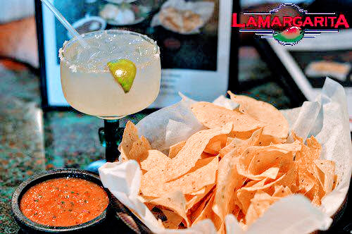 Rocks Margarita with chips and salsa
