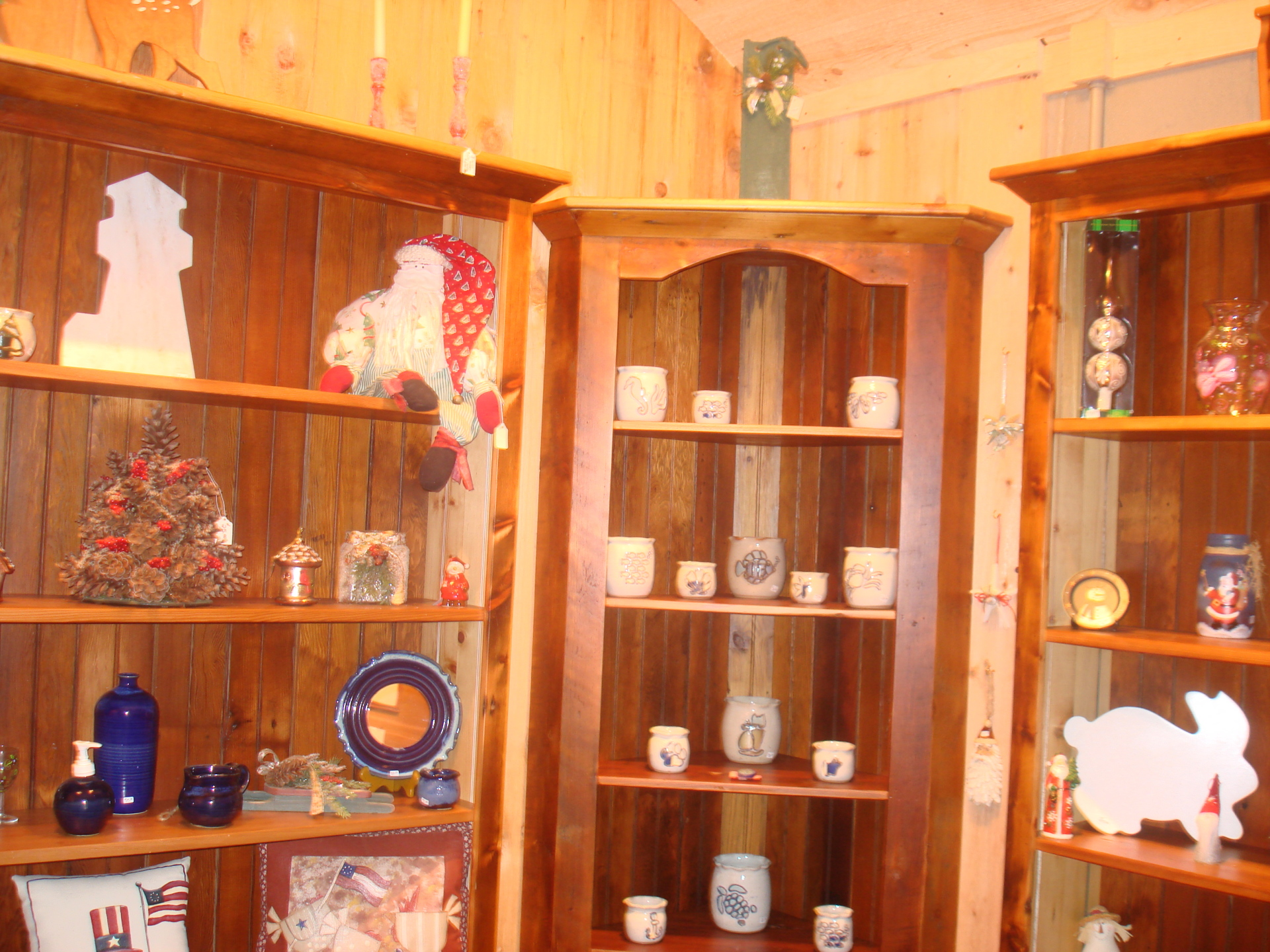 Shelves filled with great gifts