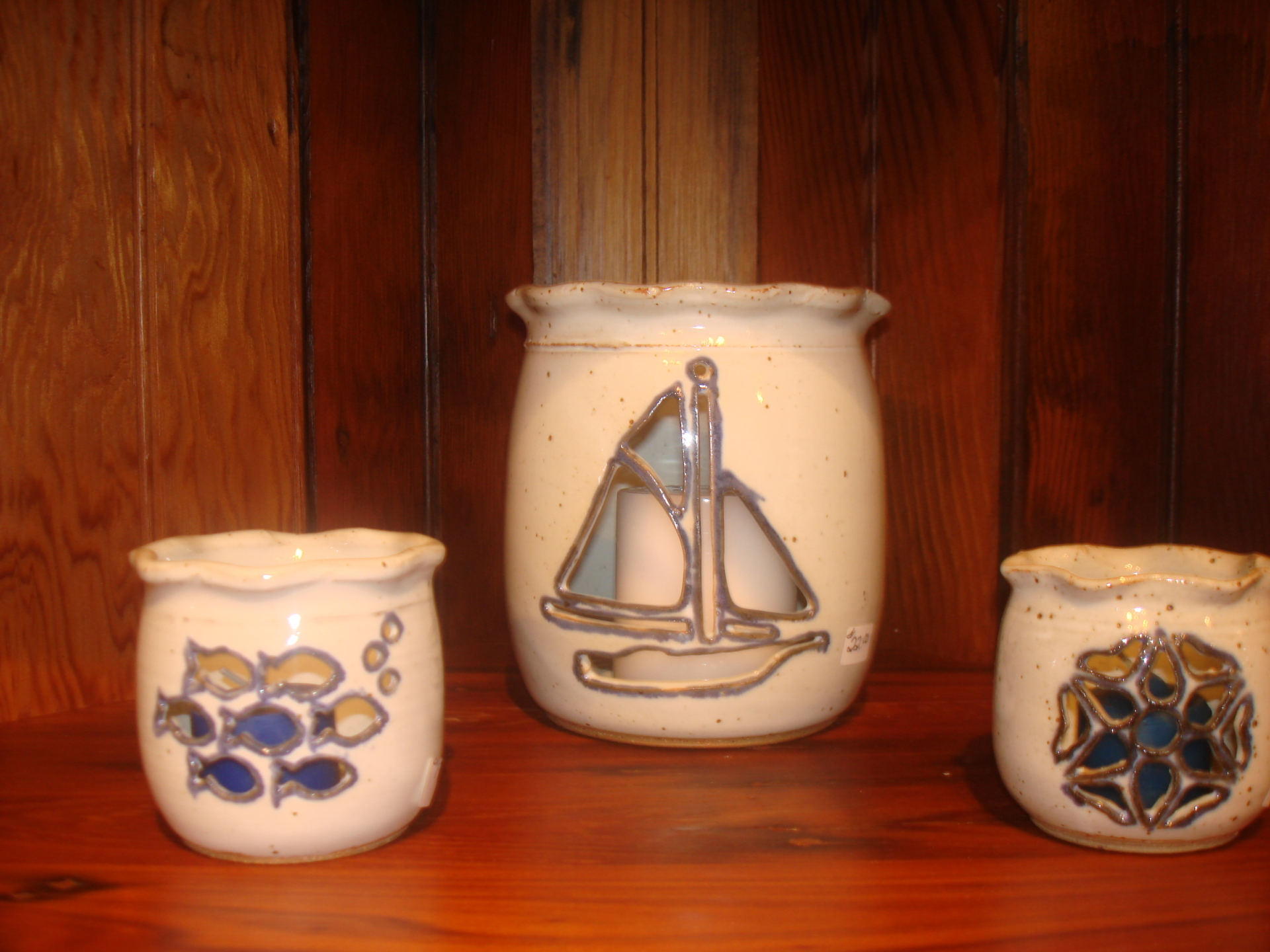Nautical cut-out candle holders