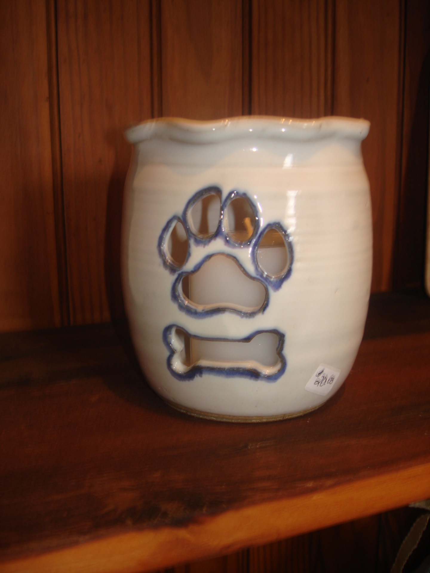 Dog Paw & Bone cut-out candle holder