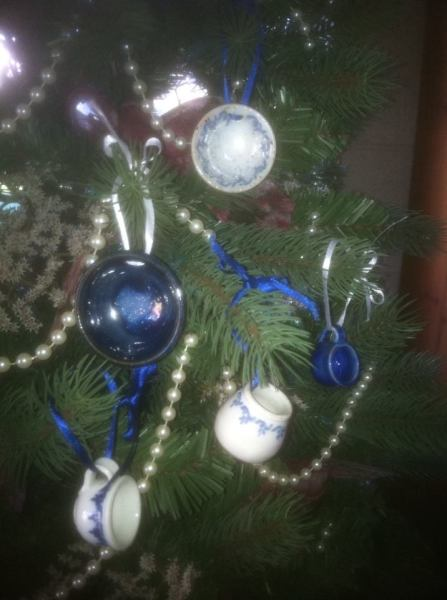 Minature Balls, bowls, pitchers and containers Christmas Ornament