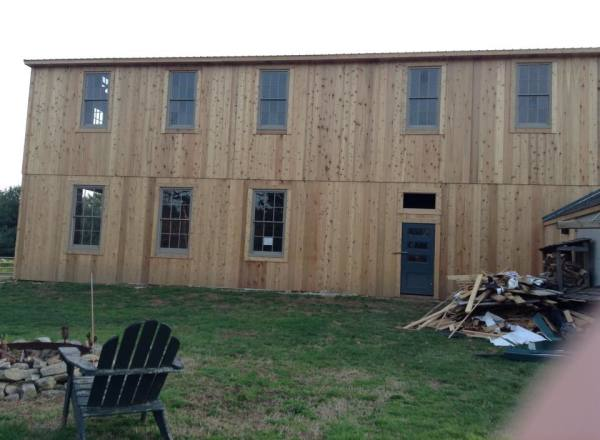 Barn gets new Siding