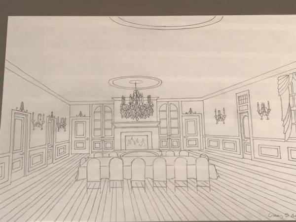 Artist rendering of the Ballroom