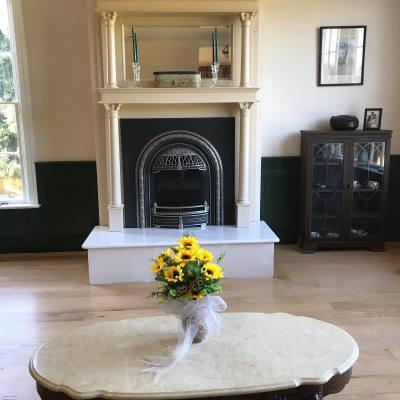 Green room Fireplace