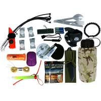 Enter To Win ASR Outdoor Ultimate Camping Survival Water Bottle Kit.