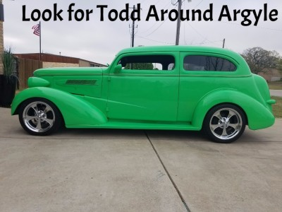 Look for Todd in his '37 Chevy around town